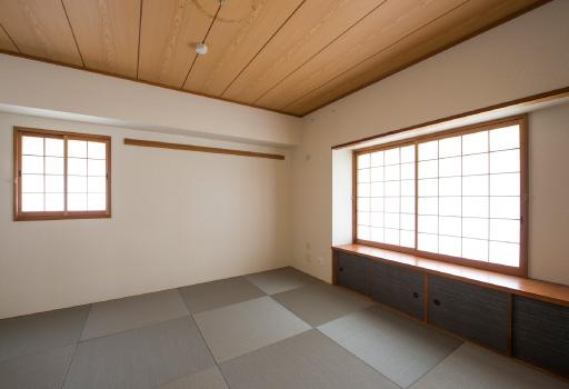 間取りを変えずに、内装を一新。新築のような印象に。イメージ